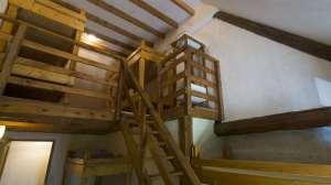 dortoir, 8 couchages avec mezzanine en bois