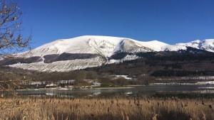 Neige, montagne, Grand Serre, hiver, lac