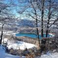 Lac du plateau Matheysin enneigé