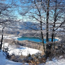 Lacs du plateau Matheysin enneigé